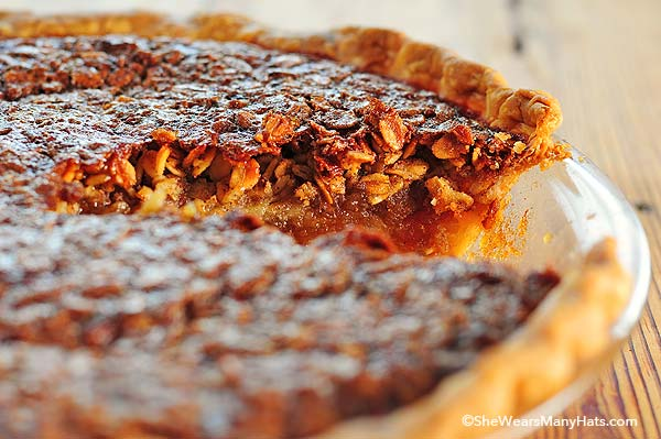 Oatmeal Pie is similar to Pecan Pie and oh so wonderful for any dessert menu.