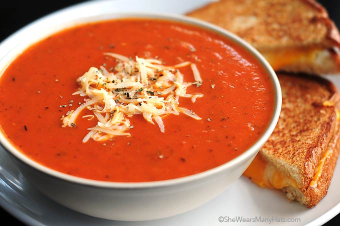 Quick And Easy Tomato Soup Recipe She Wears Many Hats