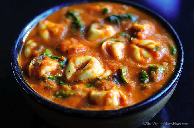 This delicious Spinach Tortellini Soup Recipe is the perfect bowl of comfort for a chilly night. It's easy to make too!