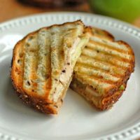 Turkey Brie Apple Panini