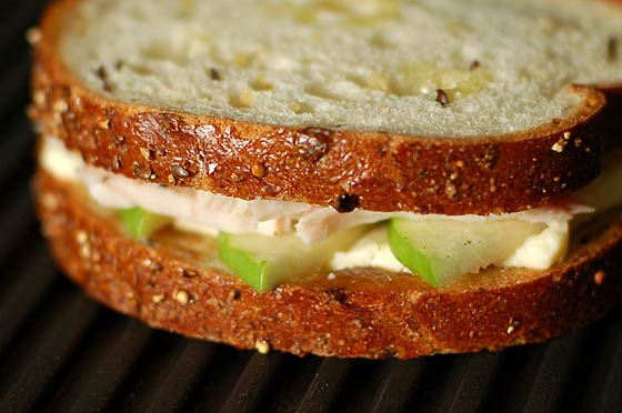 turkey brie and apple sandwich