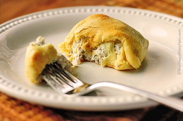 Easy Turkey Pockets are a great way to use that leftover turkey.