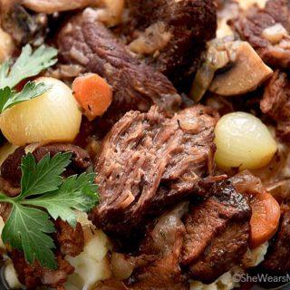 Beef Bourguignon Recipe | shewearsmanyhats.com