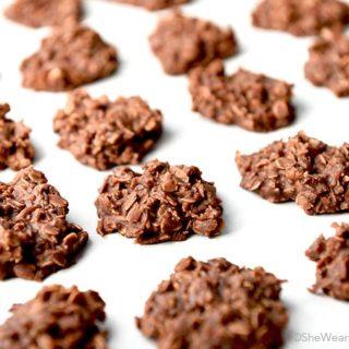 Chocolate Coconut Oatmeal No Bake Cookies Recipe