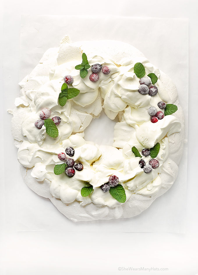 Holiday Pavlova Wreath Recipe  She Wears Many Hats