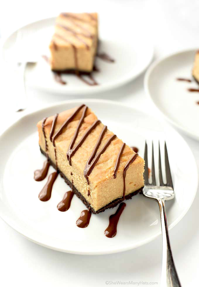 Chocolate Peanut Butter Cheesecake Bars Dessert | shewearsmanyhats.com