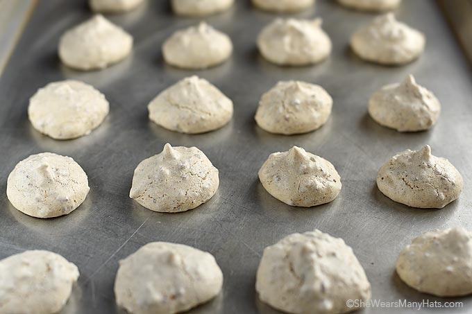 Pecan Meringue Cookies Recipe | shewearsmanyhats.com
