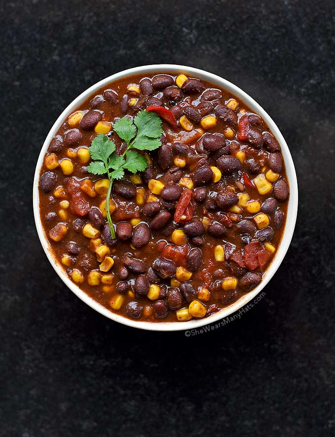Easy vegetarian chili recipe she wears many hats this bold and zesty vegetarian chili is quick and easy to put together and the forumfinder Image collections