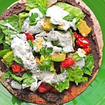 These delicious Black Bean Tostadas with Cilantro Sauce are full of flavor and a healthier choice for a meal or even served up as appetizers. They are quick to make too!
