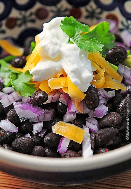 Prepare an easy and healthy Black Bean Bar for you next get together. It's a tasty and satisfying option for serving guests lunch or dinner.