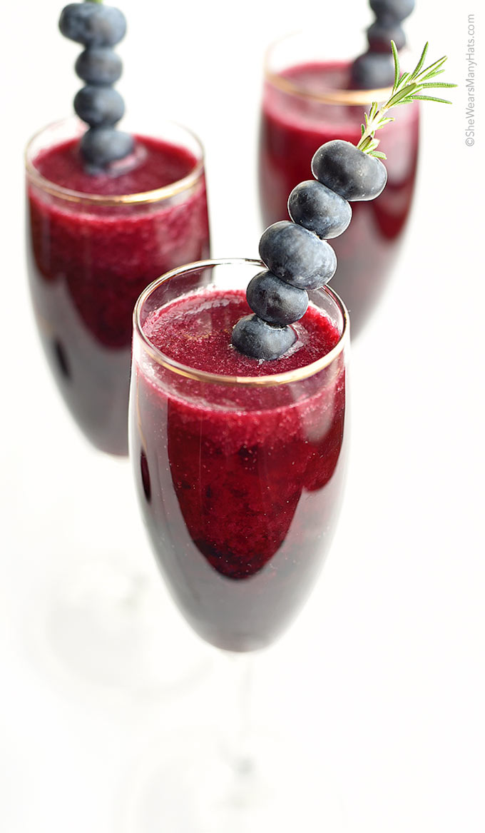 Blueberry Bellini recipe