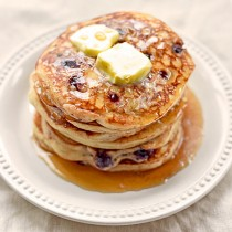 Yogurt Blueberry Pancakes Recipe photo