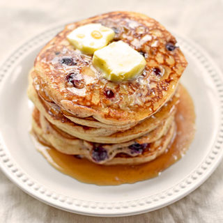 Yogurt Blueberry Pancakes Recipe | shewearsmanyhats.com