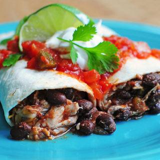 Easy Chicken and Black Bean Burritos