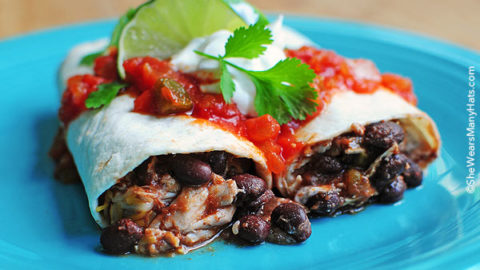 Easy Chicken And Black Bean Burritos