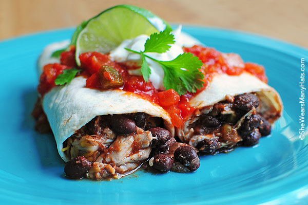 Easy chicken and black bean burritos delicious easy chicken and black bean burritos are a tasty choice for a quick lunch or forumfinder Choice Image