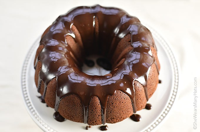 This Chocolate Bundt Cake with a Chocolate Espresso Glaze has a wonderful texture, and reminds me slightly of a Devil's Food cake. It's delicious, especially with the chocolatey glaze.