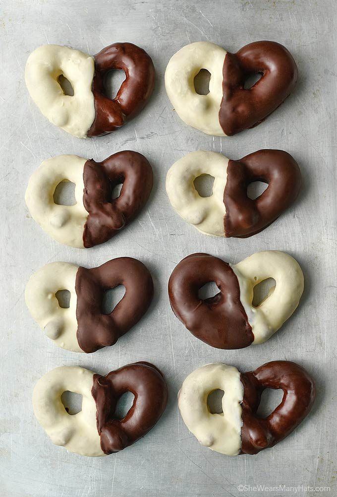 Black And White Chocolate Covered Pretzels She Wears