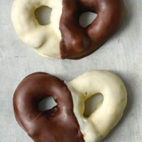 Black and White Chocolate Covered Pretzels
