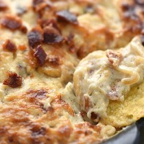 Baked Bacon Cheese Onion Dip Recipe
