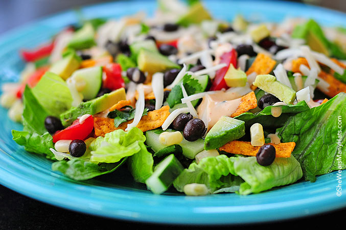 Black Bean Mexican Salad just hits the spot! It's a fabulous salad ...