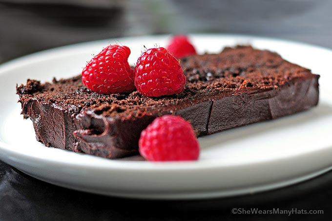 Happy Birthday Chocolate Cake With Raspberries