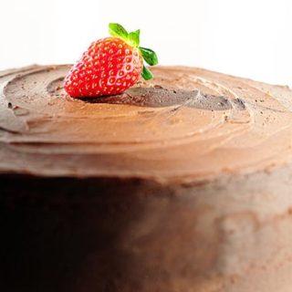 Dark Chocolate Covered Strawberry Cake Recipe