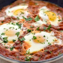 Eggs in Purgatory Recipe | shewearsmanyhats.com