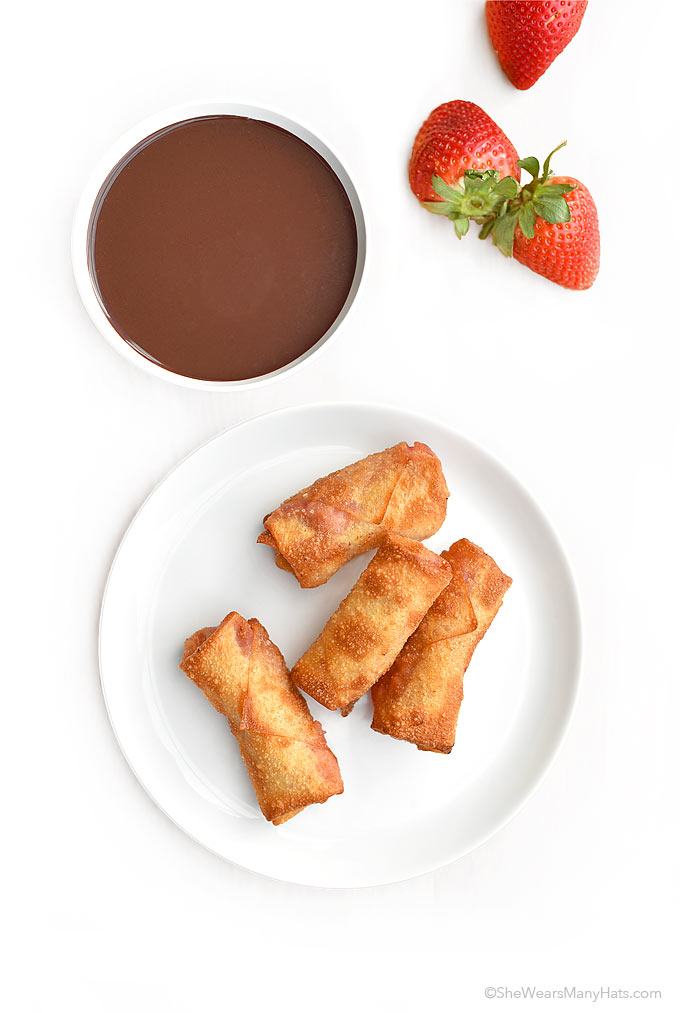 Strawberry Dessert Egg Roll Recipe