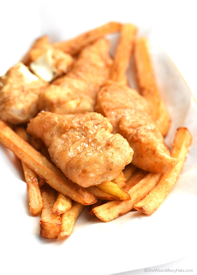 beer batter fish and chips recipe she wears many hats. Black Bedroom Furniture Sets. Home Design Ideas