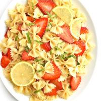 Strawberry Lemon Basil Pasta Salad Recipe