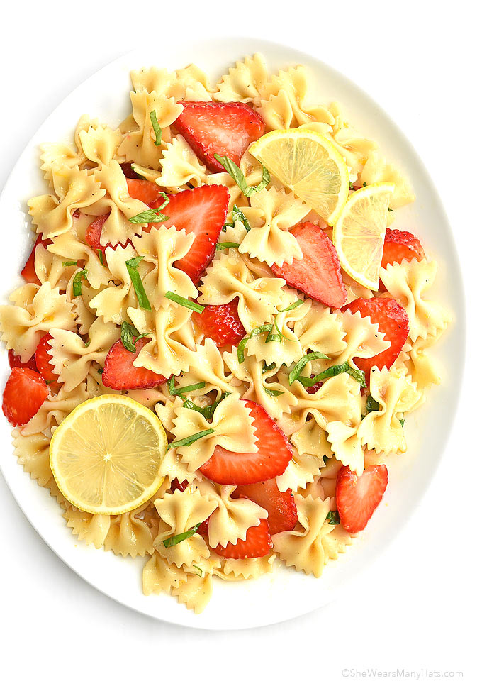 Spring Salad With Strawberry Lemon Basil Dressing Recipes — Dishmaps