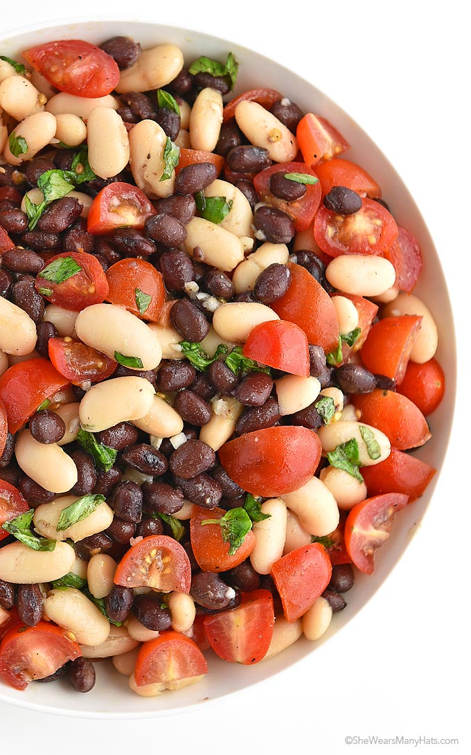 White and Black Bean Salad | She Wears Many Hats