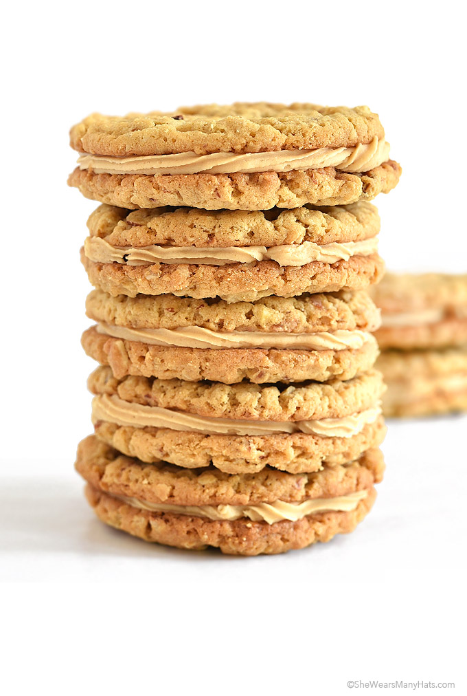 Almond Butter Cookies with Almond Butter Cream Filling