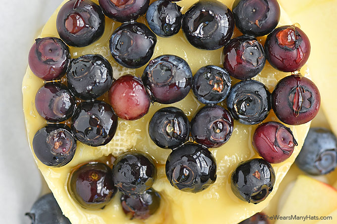 Blueberry Baked Brie Recipe shewearsmanyhats.com