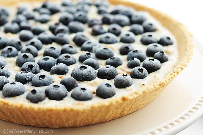 ... pie perfect for the summer heat: Frozen Blueberry Coconut Yogurt Pie