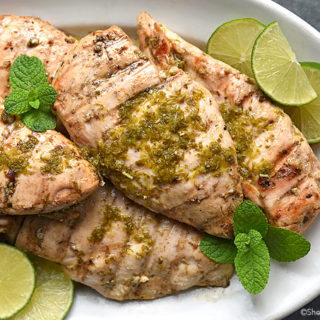 Mint Lime Grilled Chicken Breasts