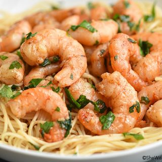 Easy Shrimp Scampi Recipe shewearsmanyhats.com
