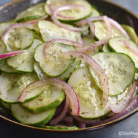 Onion Cucumber Salad Recipe