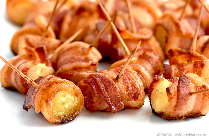 Bacon Wrapped Pineapple Bites Recipe | She Wears Many Hats