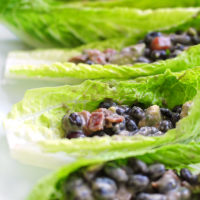 Black Bean Salad Boats