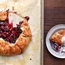 Rustic Cherry Galette Recipe shewearsmanyhats.com