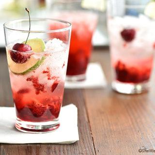 Cherry Gin Fizz Recipe shewearsmanyhats.com