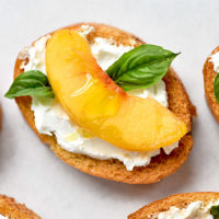 Peach and Goat Cheese Bruschetta Recipe