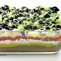 Easy 7 Layer Dip recipe shewearsmanyhats.com