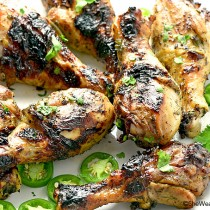 Honey Jalapeño Grilled Chicken Recipe from shewearsmanyhats.com