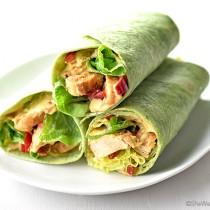 Hummus Grilled Chicken Wrap shewearsmanyhats.com