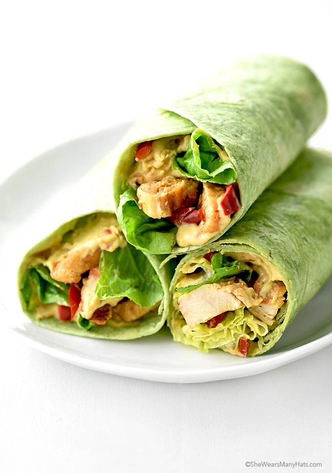 Hummus Grilled Chicken Wrap Recipe She Wears Many Hats