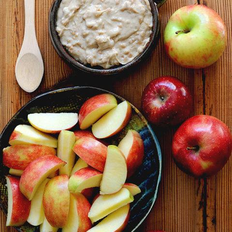 Easy Toffee Caramel Apple Dip Recipe shewearsmanyhats.com