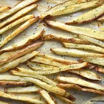 Homemade Baked Truffle Fries shewearsmanyhats.com